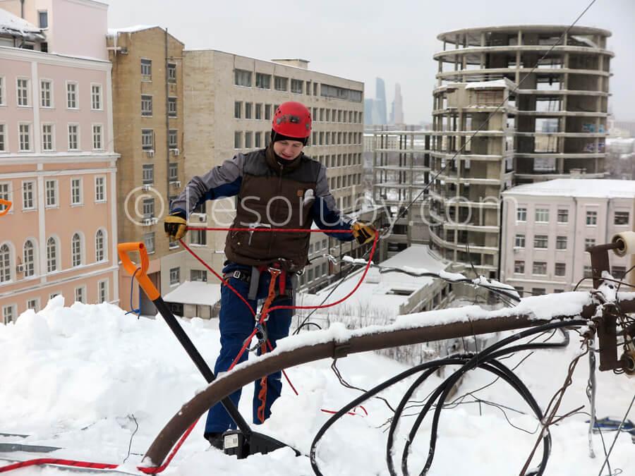 Расценки очистка от снега крыши